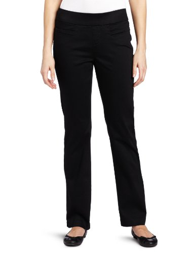 Lee Womens Natural Fit Pull On Barely Bootcut Pant Black 12