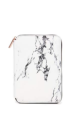 - Skinnydip Women's Crash Brush Portfolio Set, Marble, White, Print, One Size