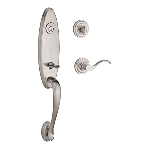 Baldwin Reserve 9BR1800-023 Chesapeake Traditional Single Cylinder Handleset with Left-Handed Lever in Satin Nickel