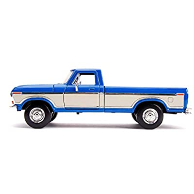 1979 Ford F-150 Pickup Truck Stock Candy Blue Metallic and Cream Just Trucks 1/24 Diecast Model Car by Jada 31587: Toys & Games