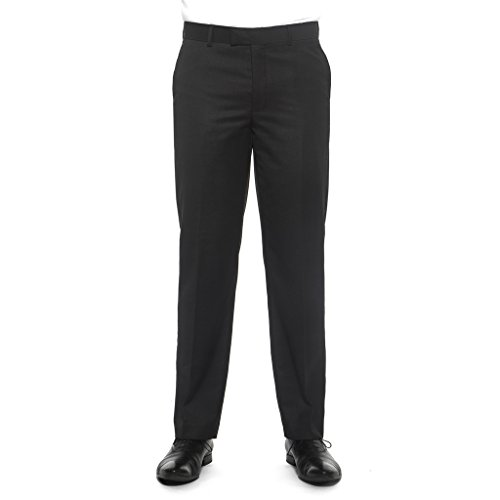 Nicole Miller NMAN Men's Solid Suit Separate Dress Pants - Slim Fit, Charcoal Gray by Nicole Miller