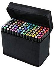 مجموعة اقلام للرسم والتلوين من ساينيش بلمسة من الكحل بطرفين احدهما رفيع مناسب للتحديد بدقة واخر عريض للتلوين، من 60 لون