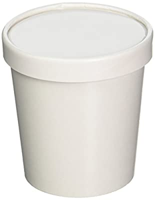 25ct White 12oz Frozen Dessert Containers