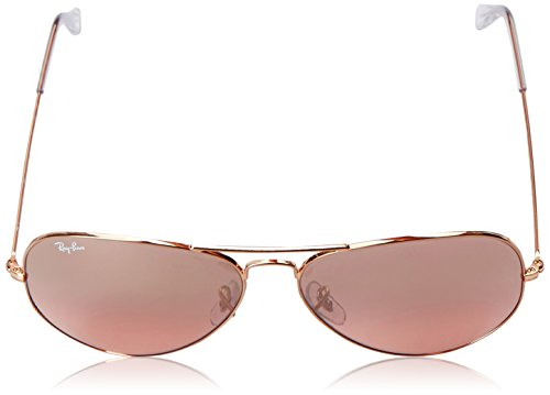 Brown Ban pink Men's Frame Ray crystal Aviator Metal Silver Gold Mirror Sunglasses Lens 0rb3025 Large xAqdvaw