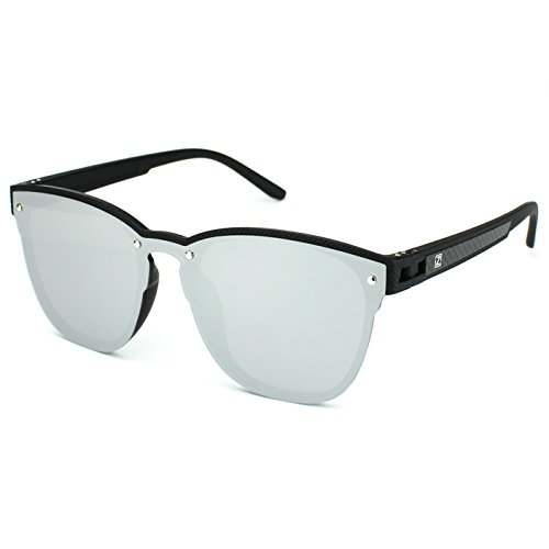 ZENOTTIC Mirrored Lens Silver UV Sunglasses Glasses 400 Polarized Black Fashion C1 Women Frame rTrwFqR