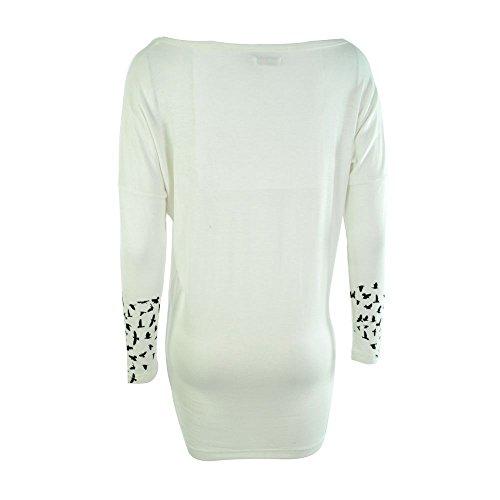 Innocent Lifestyle Damen Langarmshirt / Langarm Kleid Baum mit Krähen - Crow Heart Longshirt