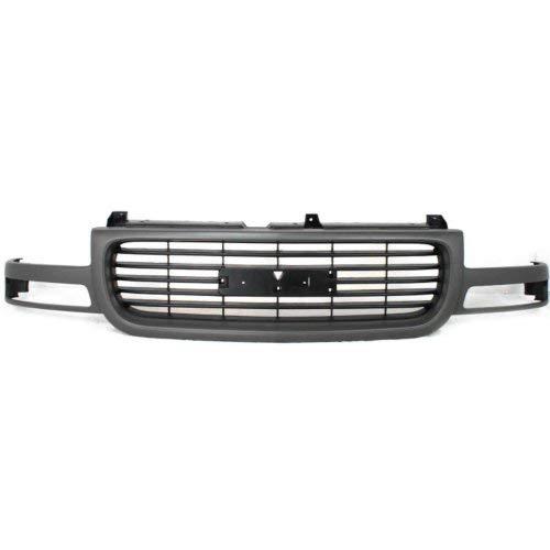 Garage-Pro Grille Assembly for GMC SIERRA 99-02/YUKON 00-06 Silver Shell Black Insert Plastic