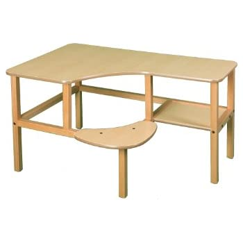 Wild Zoo Furniture Childs Wooden Computer Desk for 1, Ages 2 to 5, Maple/Tan