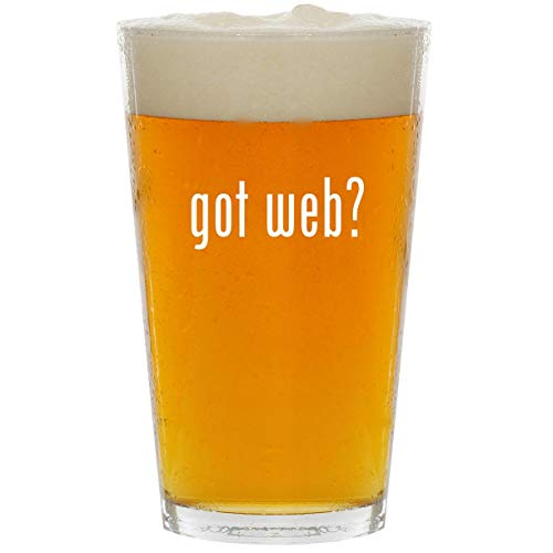 got web? - Glass 16oz Beer Pint