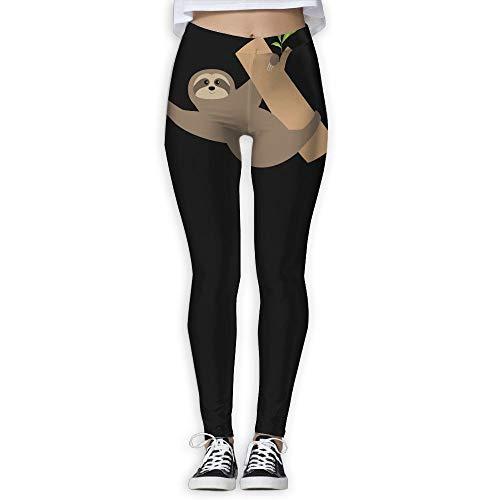 NO2XG Sloth Tree Branch Cute Women's Full-Length Pilates Leggings Sports Yoga Sleep Pants by NO2XG