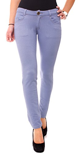 Easy Young Fashion - Pantalón - para mujer azul claro