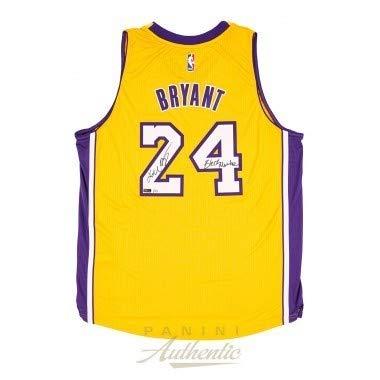 sports shoes e8a03 eb27b Kobe Bryant Autographed Signed Memorabilia Adidas Gold ...