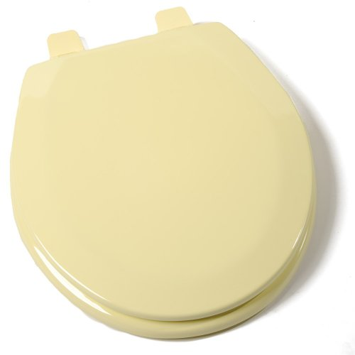 Comfort Seats C1B4R2-50 Deluxe Molded Wood Toilet Seat, Round, Citron Yellow (Yellow Toilet Seat Cover compare prices)