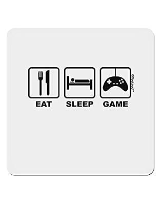 "TooLoud Eat Sleep Game Design 4x4"" Square Sticker"