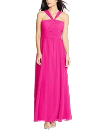Ruched Georgette Dress - 8