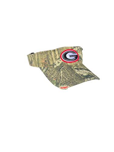 Georgia Bulldogs UGA Mossy Oak Camo Frayed Bill Visor Adjustable
