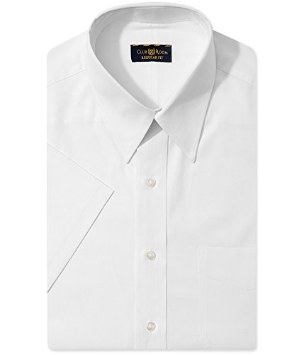 Club Room Mens Regular Fit Button Front Dress Shirt White XL Club Room White Dress Shirt