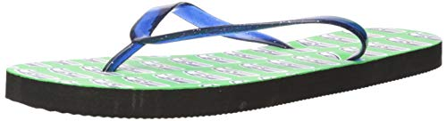 Flops Team Flip (Seattle Seahawks 2016 Womens Glitter Logo Flip Flop Medium)
