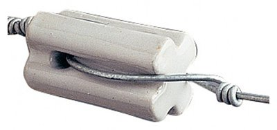 Gallagher North America G692034 Electric Fence Insulator, Porcelain Bullnose, White, 10-Pk.