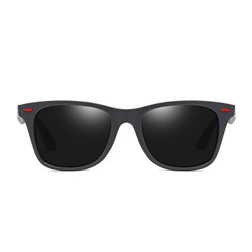 BLEVET Frame y para Grey Clásico BE007 Retro sol Grey Lens Gafas de Gafas Hombre Polarizadas Mujer OWqwrTOfa