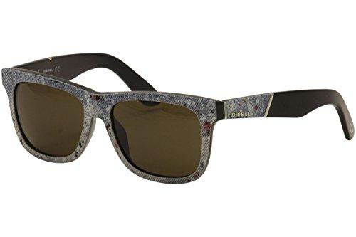 Sunglasses Diesel DL 140 DL0140 05E black/other / brown (Designer Square Sonnenbrille)