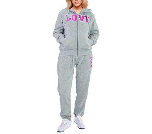 Eurogarment Tracksuit 2 Piece Sport Outfits Zip Up Hoddie