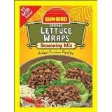 Lettuce Wrap Seasoning Mix Packets - Asian Fusion Recipe for Chicken - 1.25 Ounce Each (Pack of 6)
