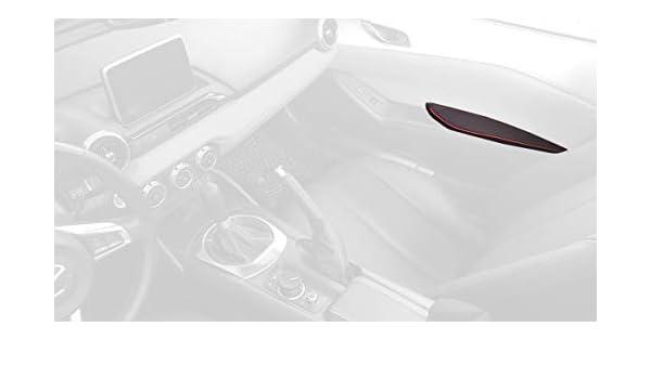 Amazon.com: RedlineGoods cubierta de apoyabrazos Compatible con Mazda Miata ND 2016-19. Alcantara Negra Costura ROJA: Automotive