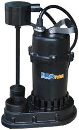 Bomba de sumidero HidroPoint hierro fundido sumergible con interruptor vertical115 V 12 HP