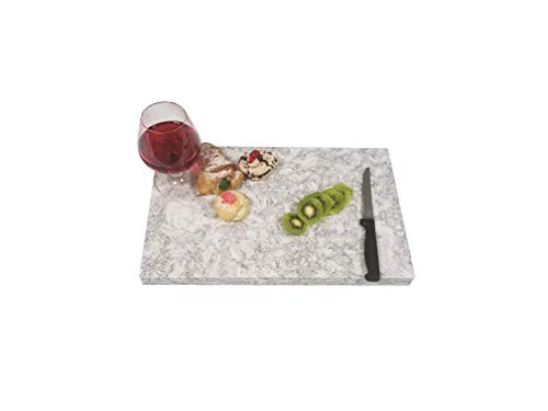 - Exotic Stone Quartz Cutting Board Stain Scratch Resistant (16 x 12) (Grey)