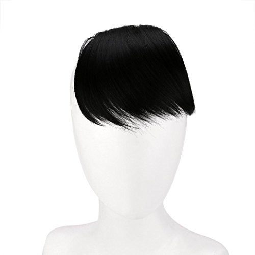 Brazilian Carnival Costumes Fancy Dress (Hair Extension Wigs, Inkach Pretty Women Girls Clip On Clip In Front Hair with Bang Fringe Hair Extension Piece (A))