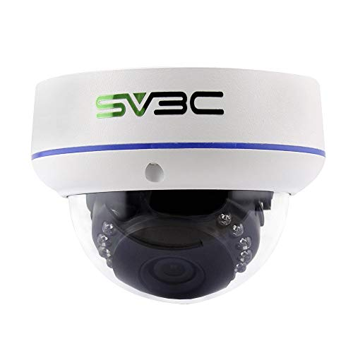 SV3C Full HD 3MP Dome IP POE Camera Security Indoor/Outdoor(Wired, not Wireless), Vandal-Proof, IP66 Waterproof, Motion Detection, Upgraded Mutil-User Sharing and H.265 Onvif