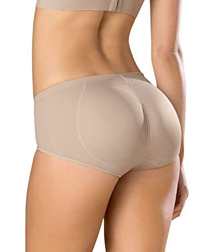 Leonisa Instant Butt Lift Padded Panty Boyshort Magic Benefit for Women Beige