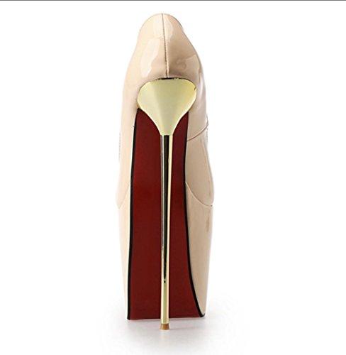 Da donna-Tacchi-Formale Serata e festa-Plateau-A stiletto Plateau-PU (Poliuretano)-Nero Rosso Multicolore Carne , 44