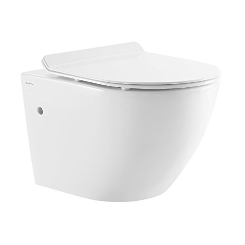 Wall Hung Bowl - Swiss Madison SM-WT449 Sublime Wall Hung Toilet Bowl