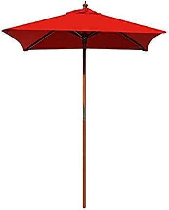 Above All Advertising Best 4 Feet Brolliz Square Wood Market Umbrella