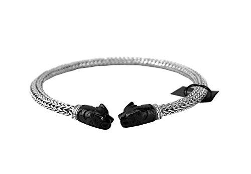 JOHN HARDY LEGENDS MACAN Women's Choker Necklace Black Onyx NEW BOX 117N