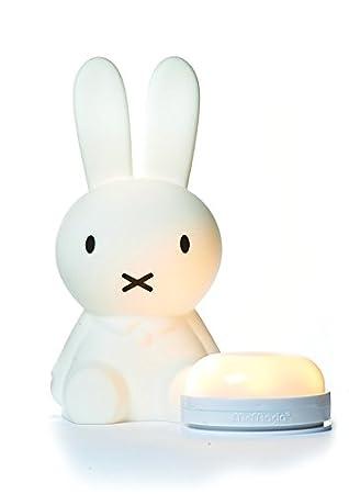 /Übernachtungen bei Freunden und Familie Mr Maria Dimmbare /& Aufladbare LED-Kinderlampe Miffy First Light Lampe Zum Mitnehmen in den Urlaub 30cm H/öhe Ein kleiner Freund f/ür Ihr kleines Wunder