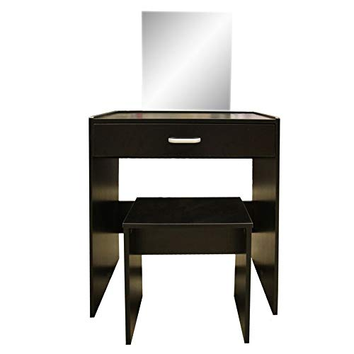 Generic ity Make Up Setith Stool and Mirror Dressing Table Black Bedroom Vanity with Stool Make Up Set Dressing Table Bla
