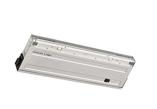 Kichler 12066SS27 Direct Wire Under Cabinet, 2 Light LED 10 Total Watts, Stainless Steel