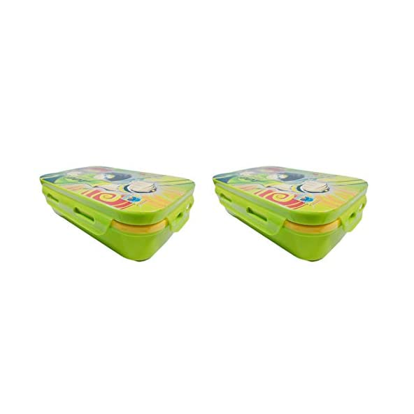 A K Enterprise Lock & Seal Plastic Lunch Tiffin Box for Children's Kids School Students Workers-Set of 2