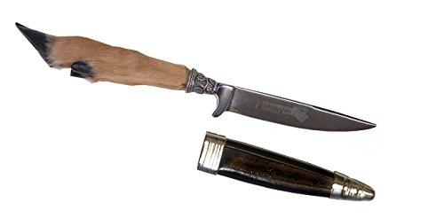 Trachtenmesser/Hirschfänger/Jagdmesser zur Trachtenlederhose - mit echtem Hirschhorngriff