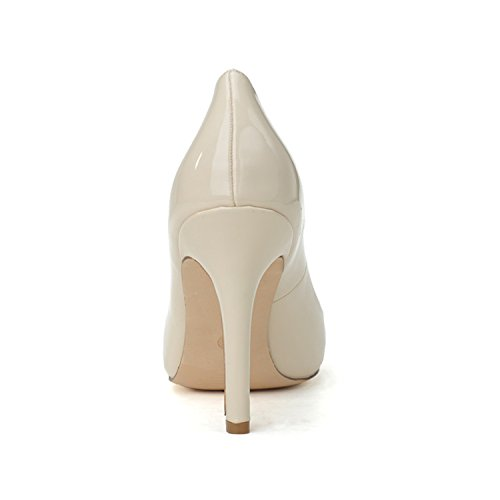 Clearbridal Women's Pointed Toe Stiletto Pumps Heels Lace Wedding Shoes and Prom Shoes ZXF0608-15 apricot FPhAbxCD