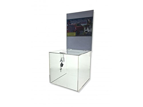 Marketing Holders Clear Ballot Suggestion Box with Header and Lock 8