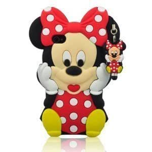 I Need 3d Cartoon Minnie Mouse Soft Silicon Case Cover Compatible for Apple Iphone 4/4g/4s(Red)
