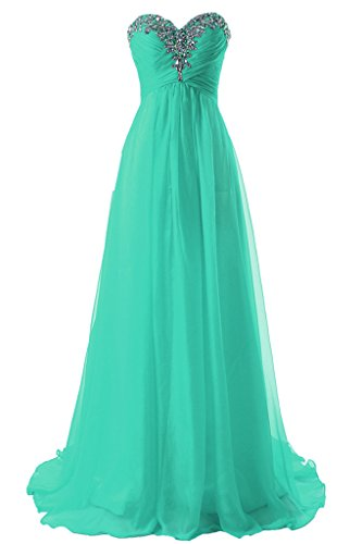 JAEDEN Girl's Sweetheart Charming Formal Evening Dresses Long Prom Gown Turquoise US6