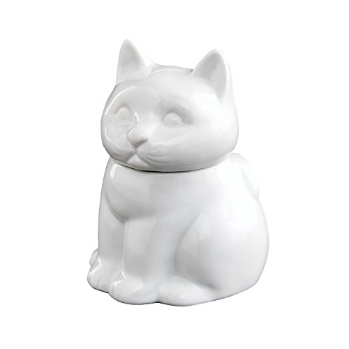 HIC Cat Sugar Bowl, Fine White Porcelain