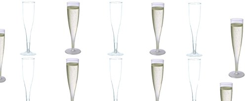 Party Wine Glass (30 pc Clear Plastic Classicware Glass Like Champagne Wedding Parties Toasting Flutes)