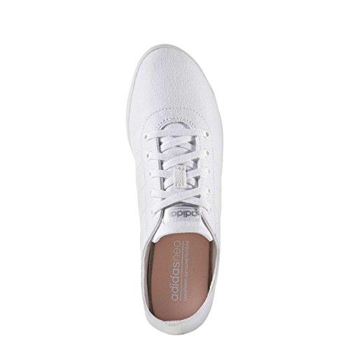 adidas Cloudfoam QT Vulc W, Scarpe da Ginnastica Donna, Bianco (Ftwbla/Ftwbla/Plamat), 36 EU