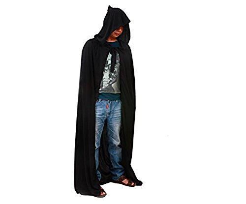 Edtoy Hooded Cloak Wicca Robe Medieval Witchcraft Cape Halloween Costumes Dress]()